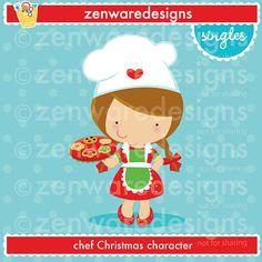Blonde boy chef clipart banner stock Blonde Girl Christmas Chef Clipart banner stock