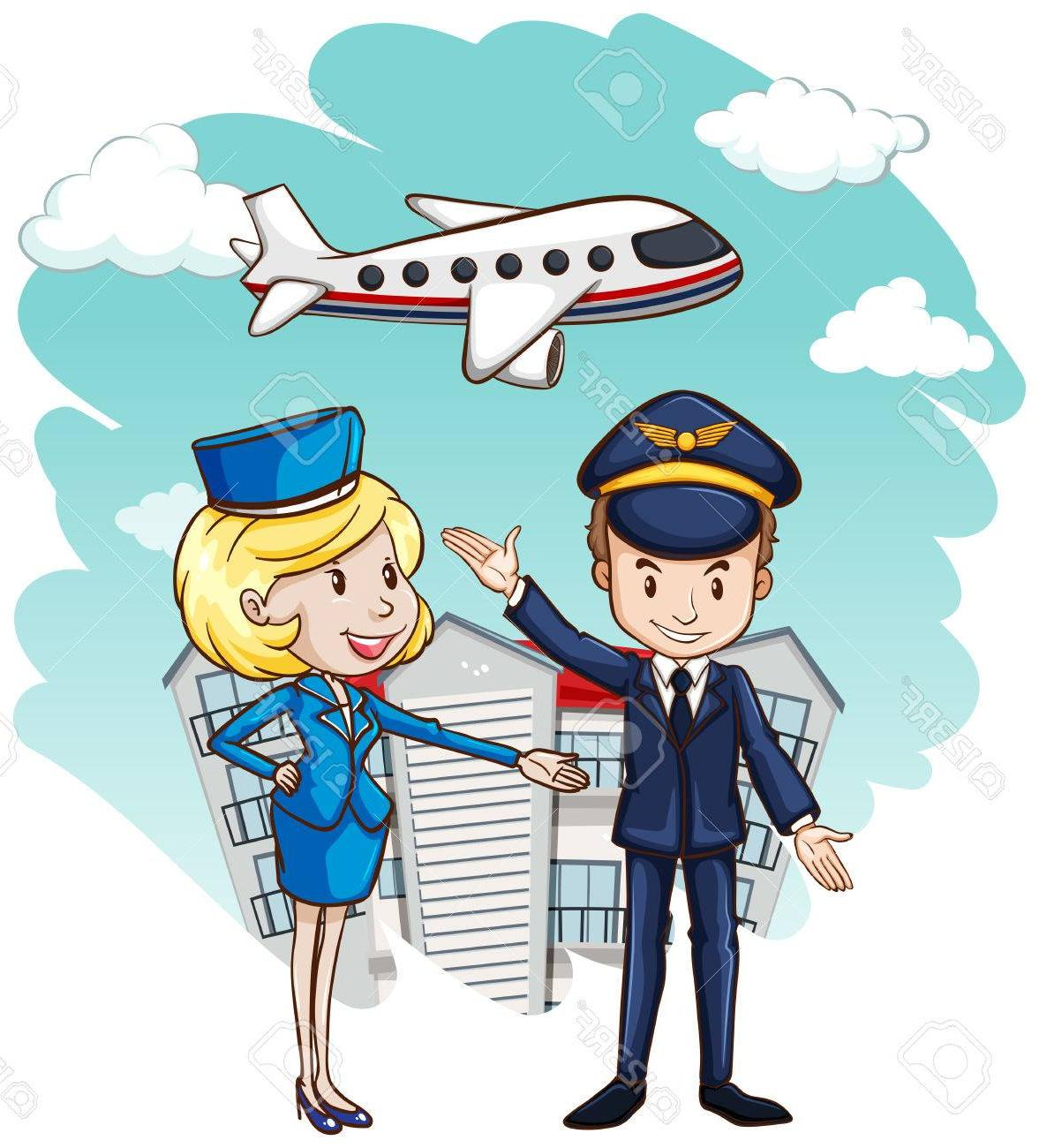 Blonde in first class on an airplane clipart clip free stock Flight Attendant Drawing at PaintingValley.com   Explore collection ... clip free stock