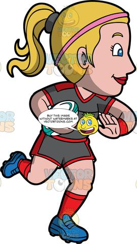 Blonde kid catching a football with one hand clipart clip art freeuse Royalty Free Images – Tagged \