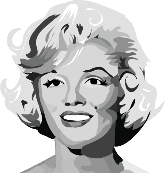 Blonde marilyn monroe black & white clipart picture transparent stock Marilyn Monroe PNG Image - PurePNG | Free transparent CC0 PNG Image ... picture transparent stock