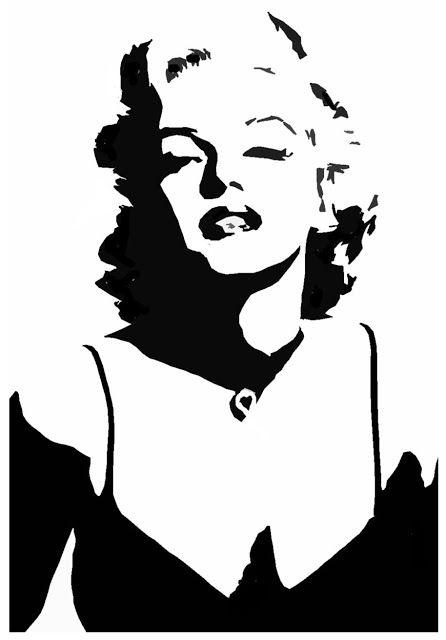 Blonde marilyn monroe black & white clipart clipart royalty free Amazing Stencils : Marilyn Monroe Stencil | stencils | Marilyn ... clipart royalty free