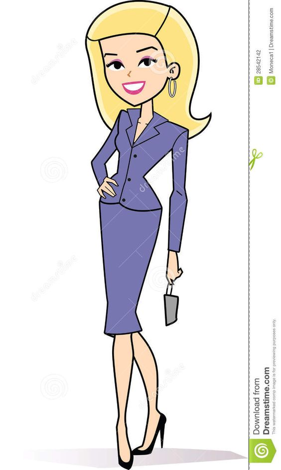 Blonde mother clipart real. Female business stock photography