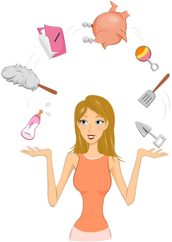 Blonde mother clipart real. Clipartfox multitaskingmom