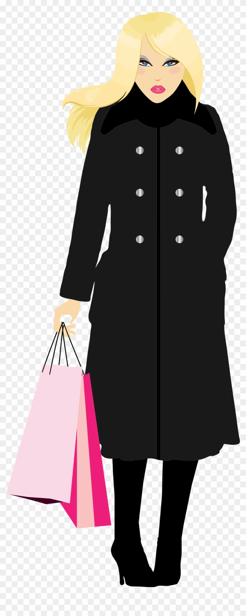 Blondewoman clipart clip art black and white stock This Free Icons Png Design Of Blonde Woman Shopping - Woman Blonde ... clip art black and white stock