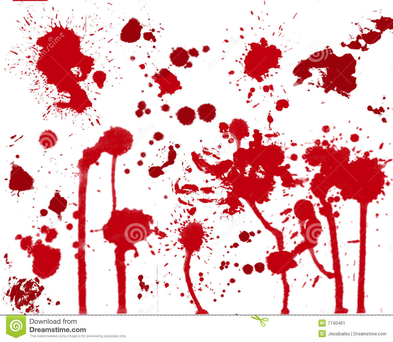Blood stains clipart. Stock image