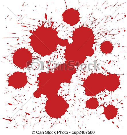 Spot illustrations and clip. Blood stains clipart