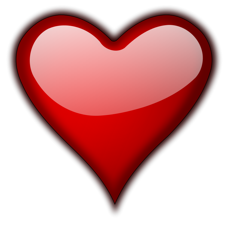 Lopsided heart clipart