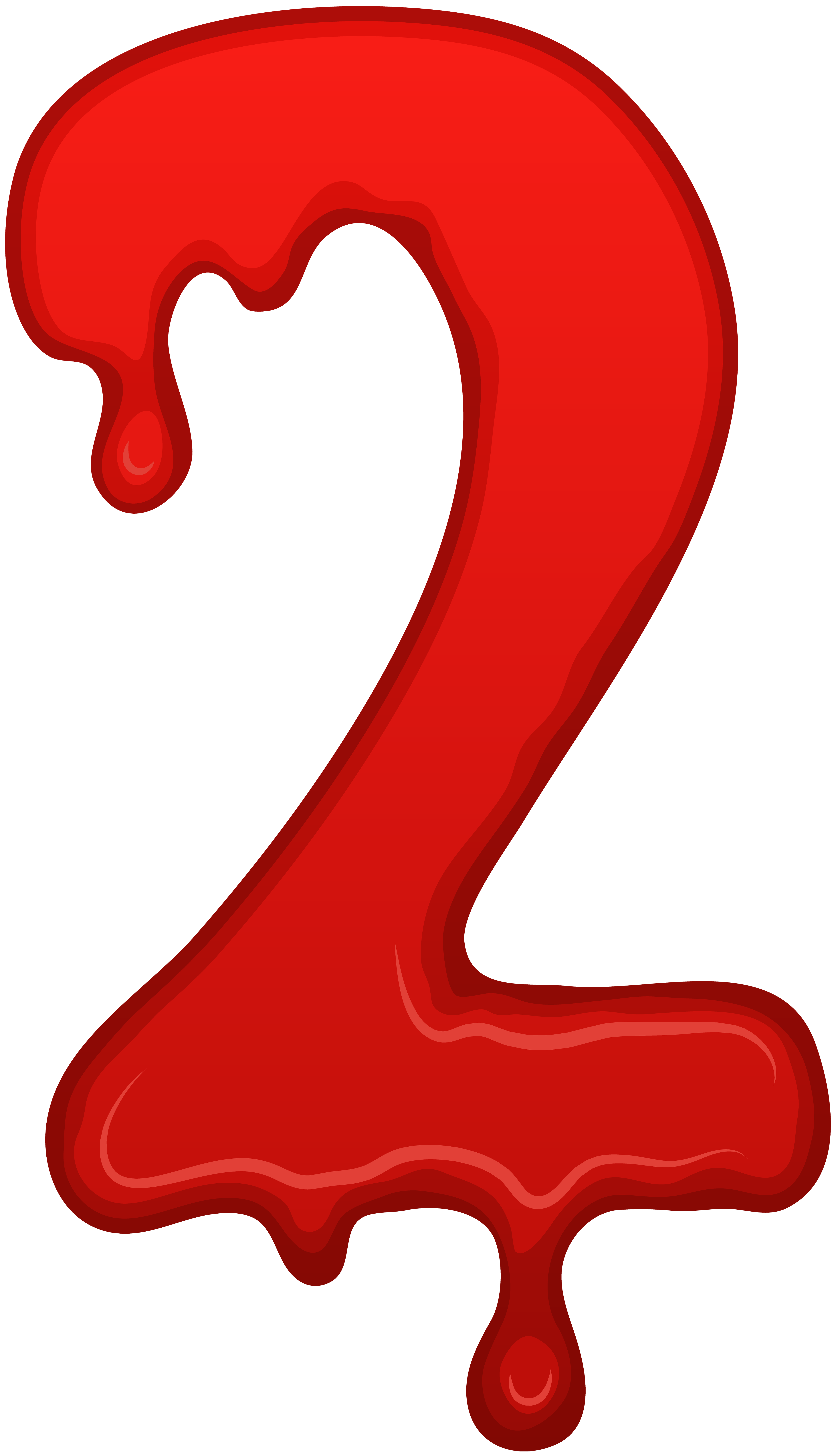 Bloody Number Two PNG Clip Art Image | Gallery Yopriceville - High ... svg library library