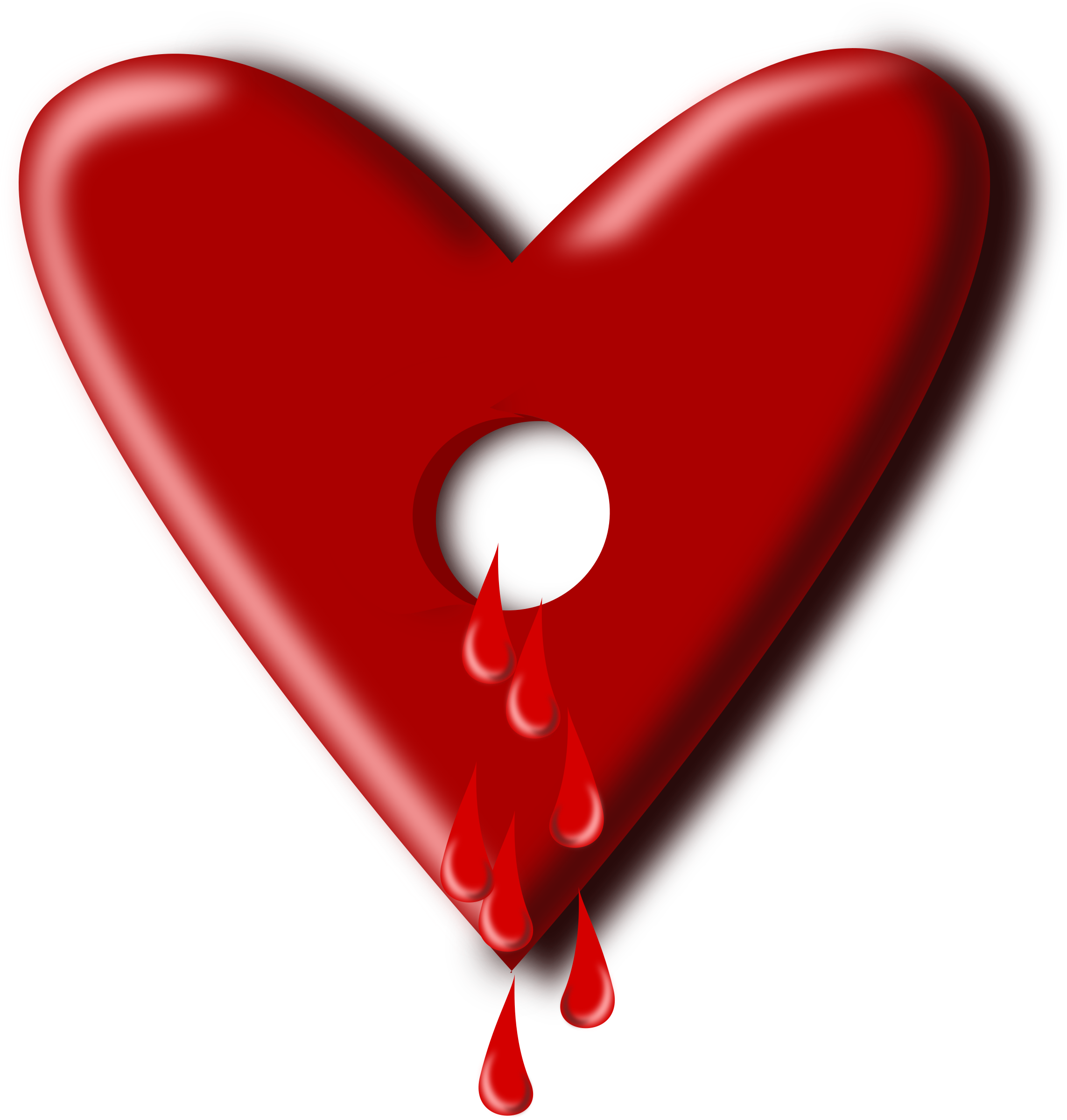 Clipart - bloody heart svg library library