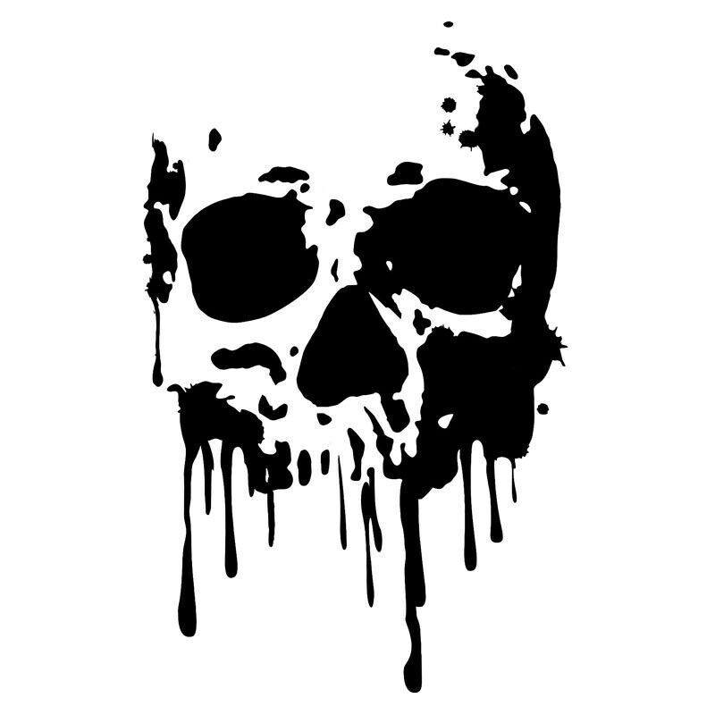 Bloody skull clipart picture black and white library Details about 7INCH Bloody Skull Car Sticker Bleeding DIY  Bumper/Window/Laptop/Box Vinyl Decal picture black and white library