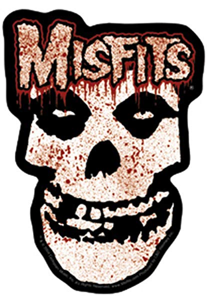 Bloody skull clipart banner black and white download Licenses Products Misfits Bloody Skull Sticker banner black and white download