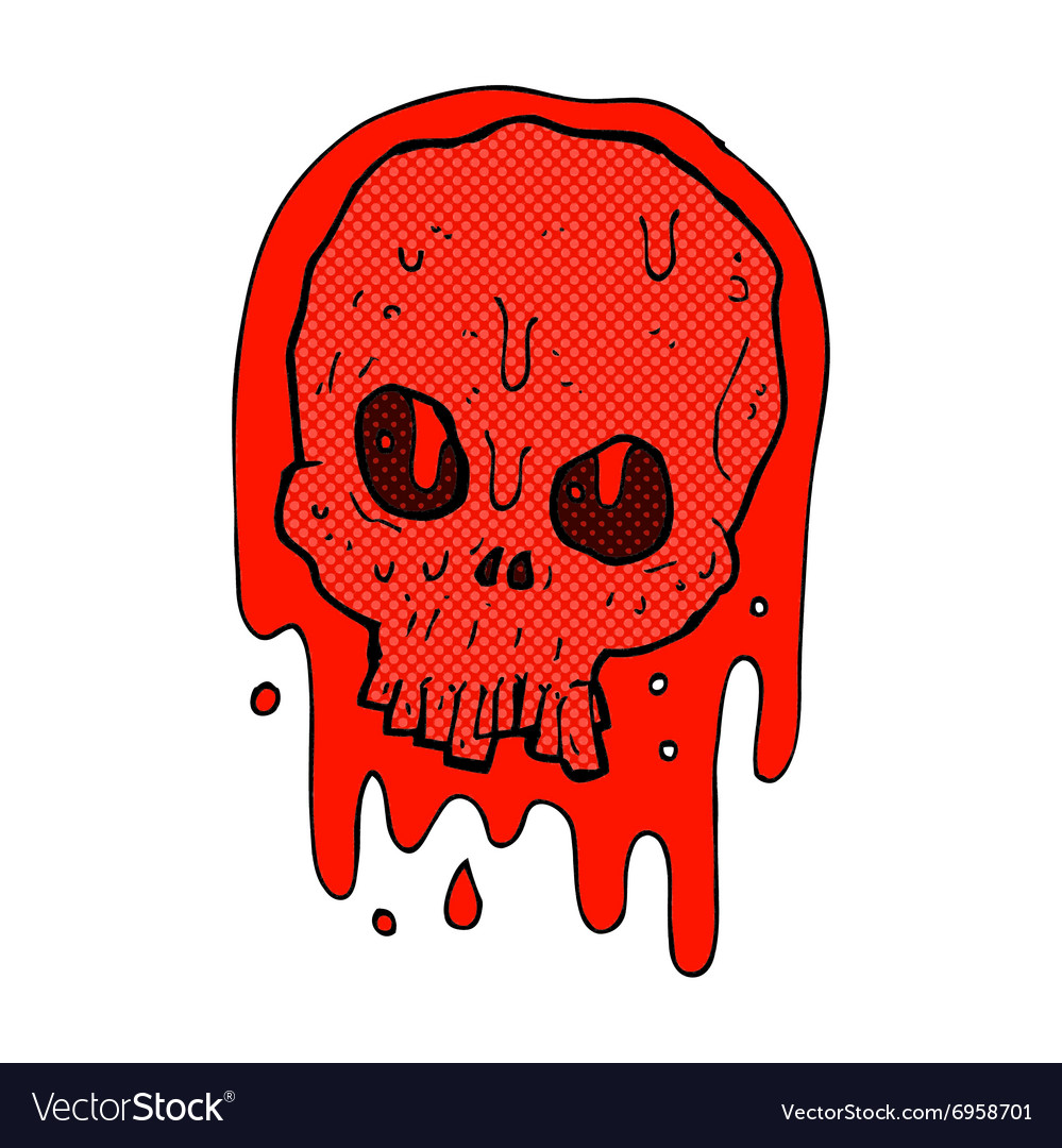 Bloody skull clipart clipart royalty free library Comic cartoon bloody skull clipart royalty free library