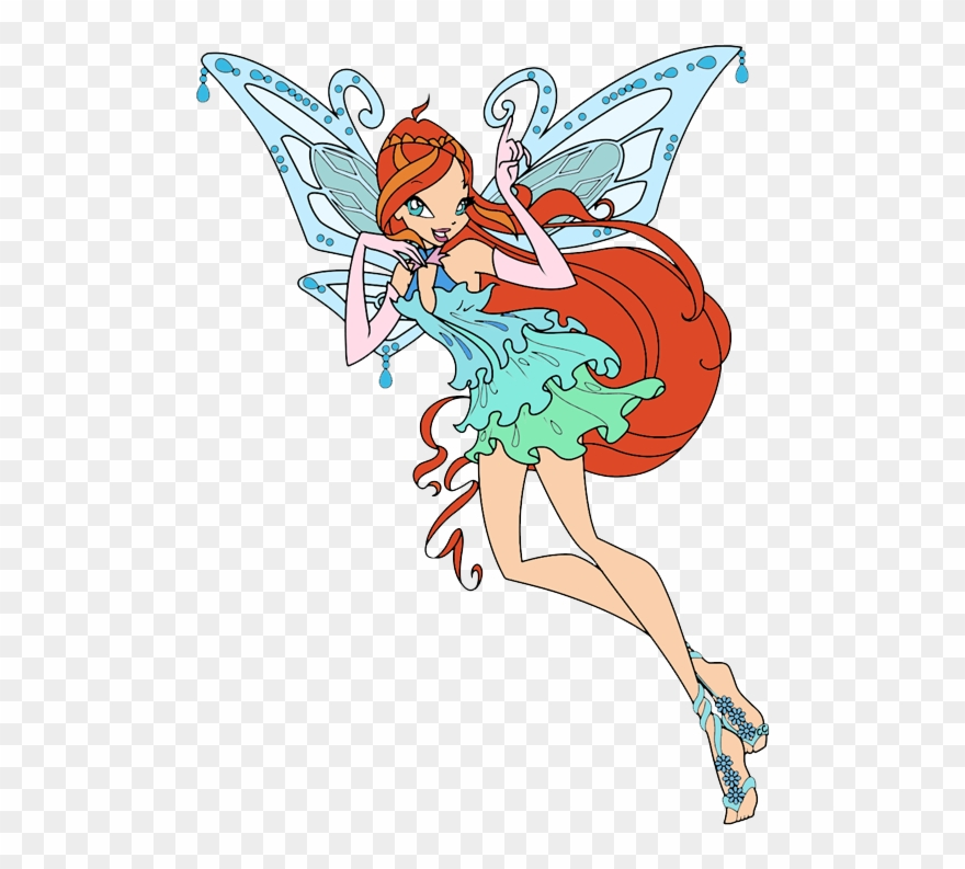 Bloom winx clipart graphic black and white stock Winx Club Clip Art - Cartoon Bloom - Png Download (#1070264 ... graphic black and white stock