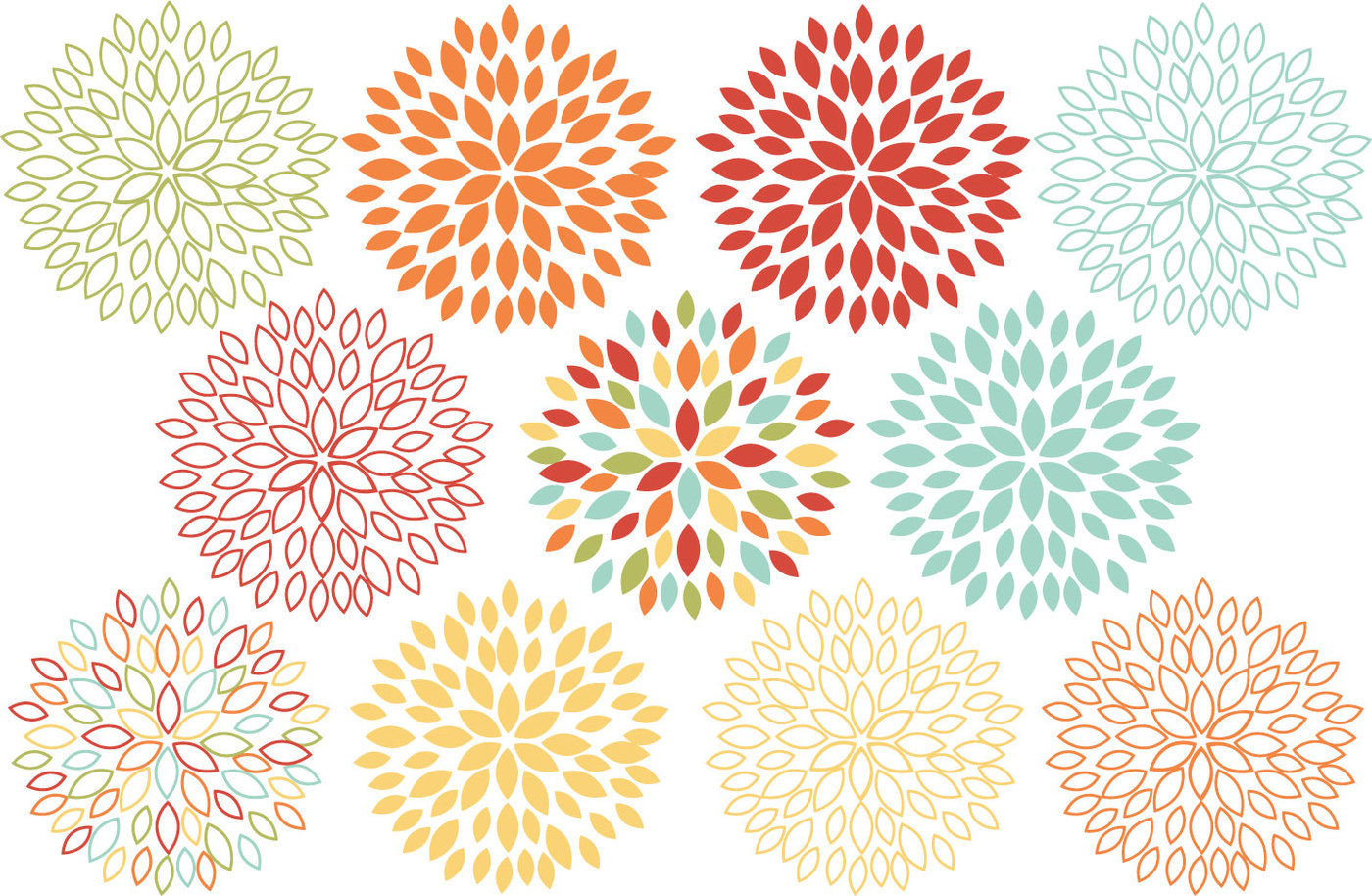 Blooming blossom clipart clip freeuse Blooming Blossom Flowers Clip Art By Sonya DeHart Design ... clip freeuse