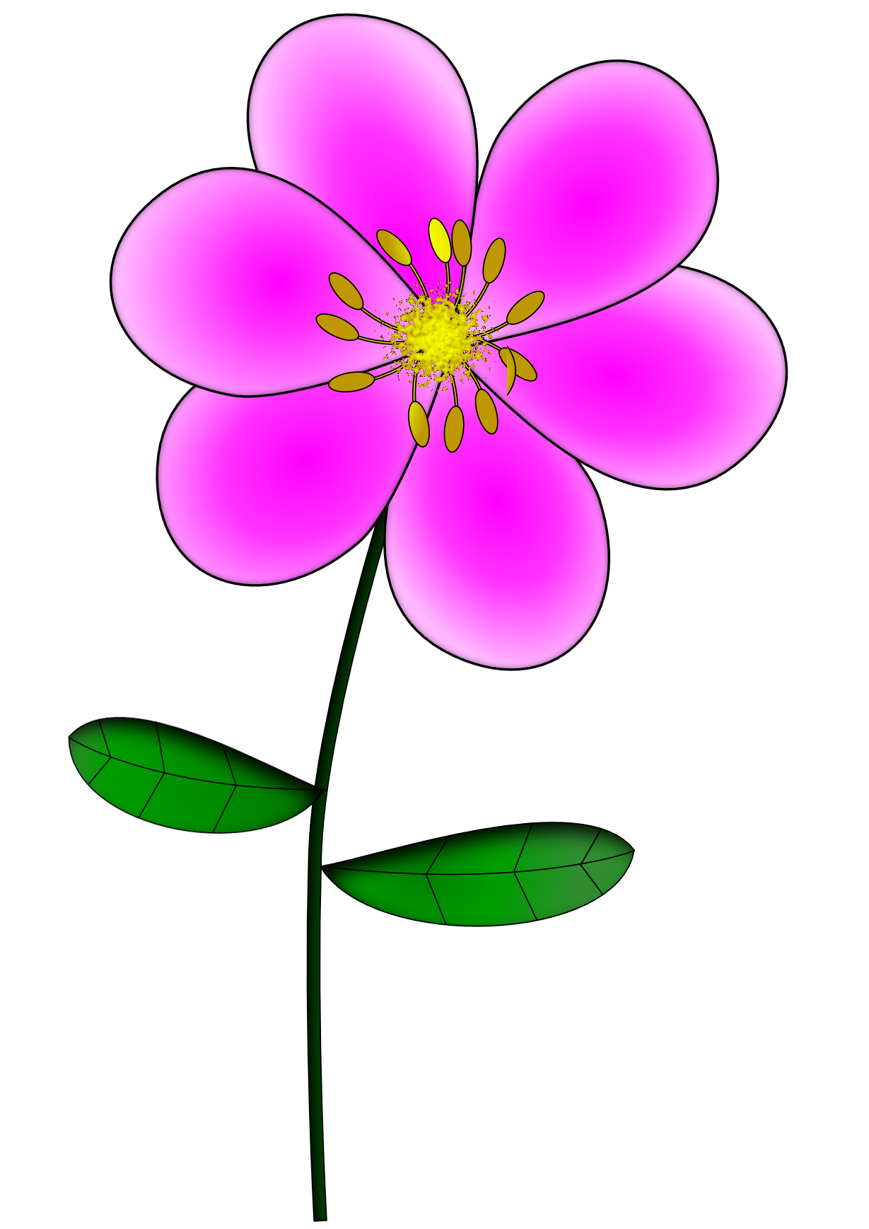 Pink flower with stem clipart clip freeuse stock FLÔRES CUTE | FLÔRES CUTE | Pinterest | Image search clip freeuse stock
