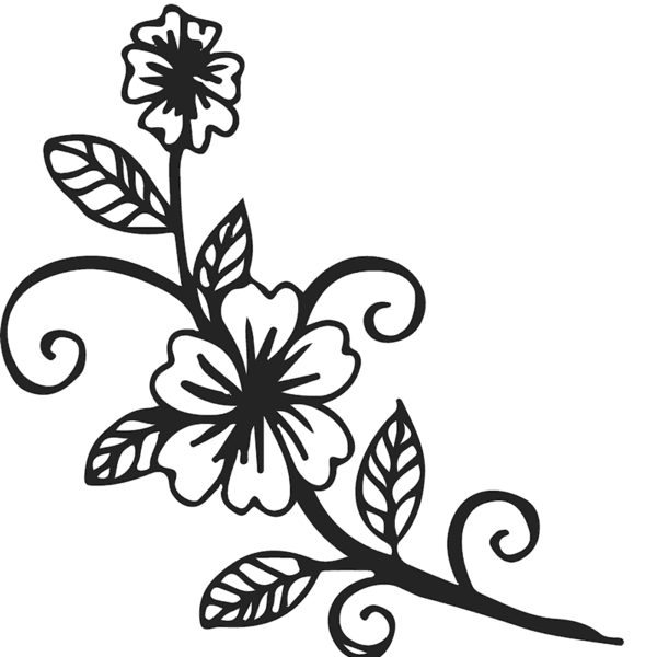 Budding flower clipart svg royalty free stock Flower & Leaf Stamps – Stamptopia svg royalty free stock