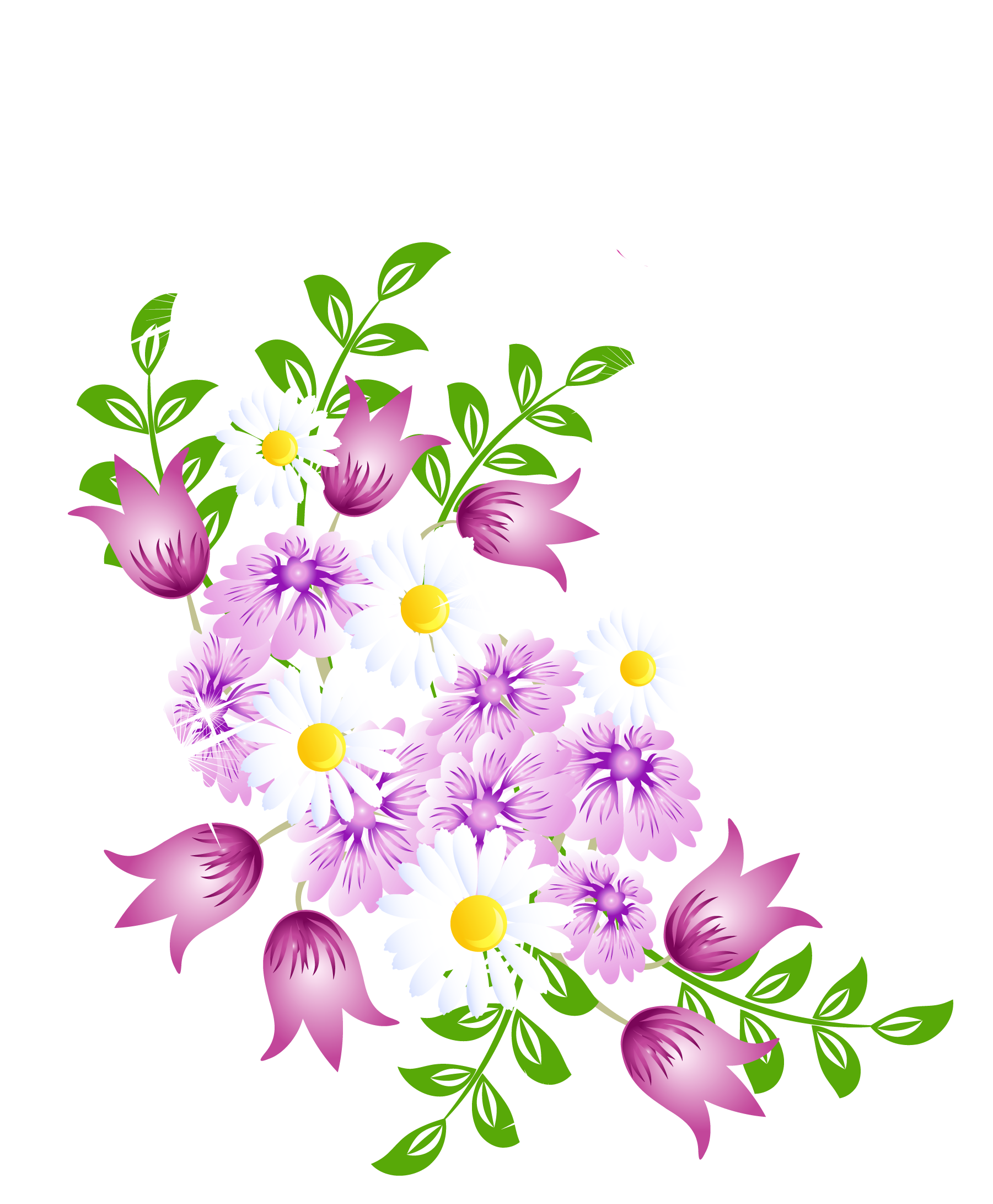 Flower blooming clipart png freeuse download Spring Flowers Decor PNG Picture Clipart | FLOWERS | Pinterest ... png freeuse download