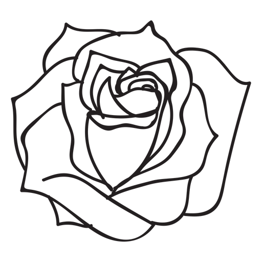 Blooming rose clipart graphic royalty free library Blooming rose stroke icon flower - Transparent PNG & SVG vector graphic royalty free library
