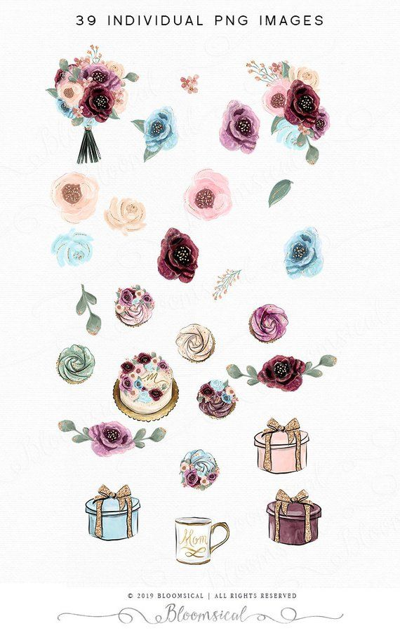 Bloomsical mother-s day clipart picture royalty free library Mother\'s Day Clip Art | Blooms Flowers Cake Cupcakes Celebration Mom ... picture royalty free library