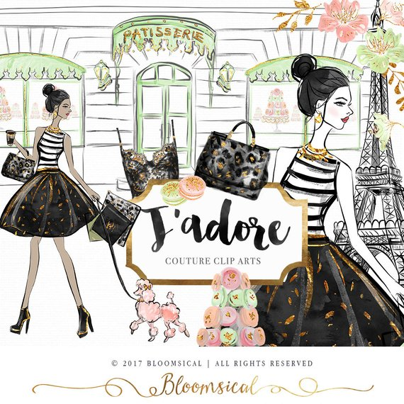 Bloomsical mother-s day clipart jpg Paris Clip Art | French Fashion Illustration Eiffel Tower Glam Woman ... jpg