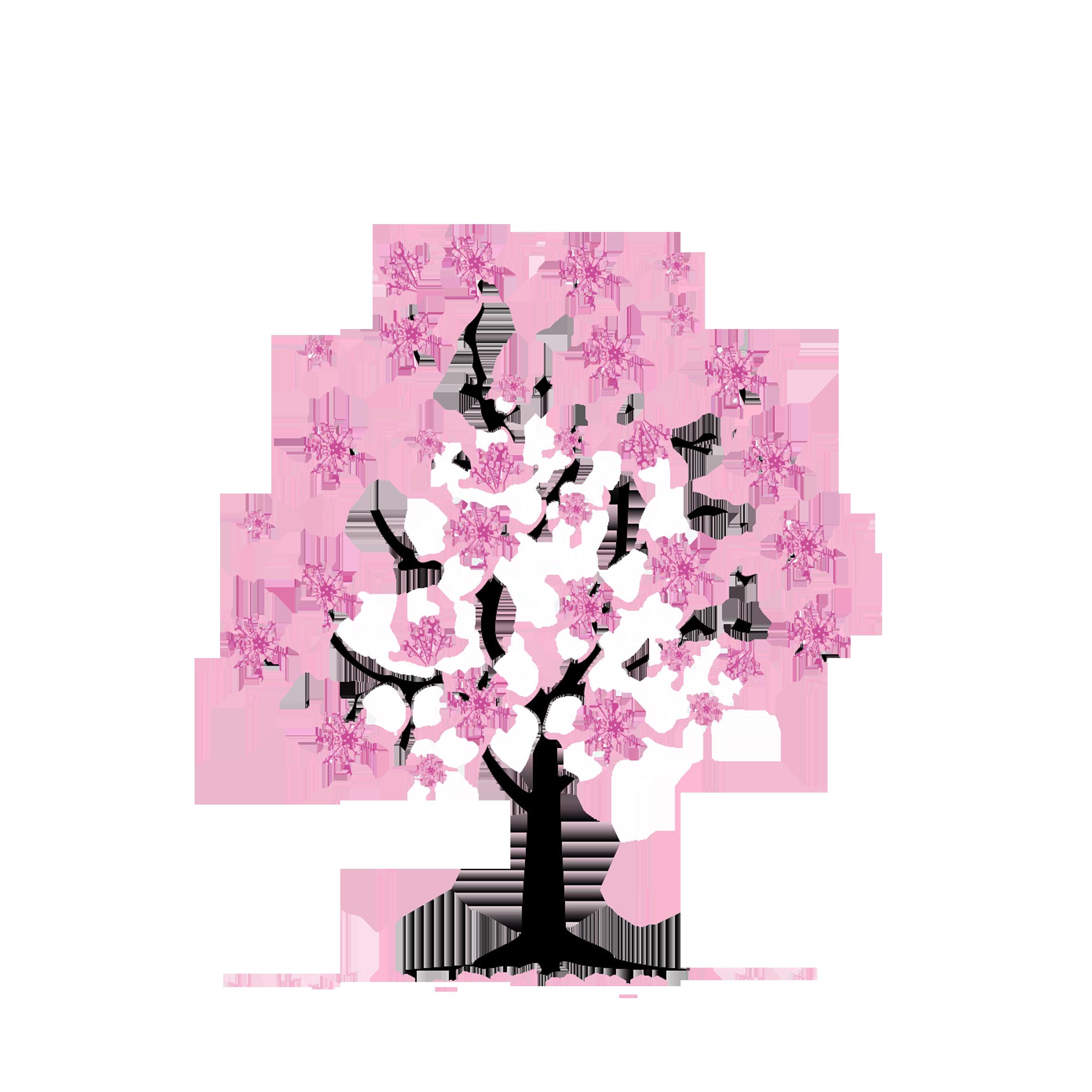 Cherry tree branch clipart graphic free stock Cherry blossom Tree Clip art - Cartoon hand-painted cherry trees ... graphic free stock
