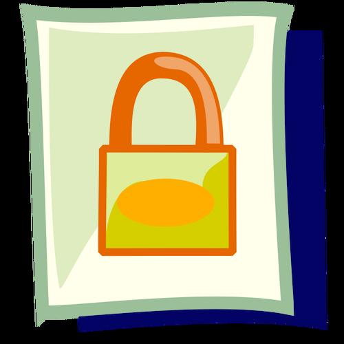 Bloqueado clipart png library stock Clip-art vector de arquivo bloqueado ícone PC em pastel de cor ... png library stock