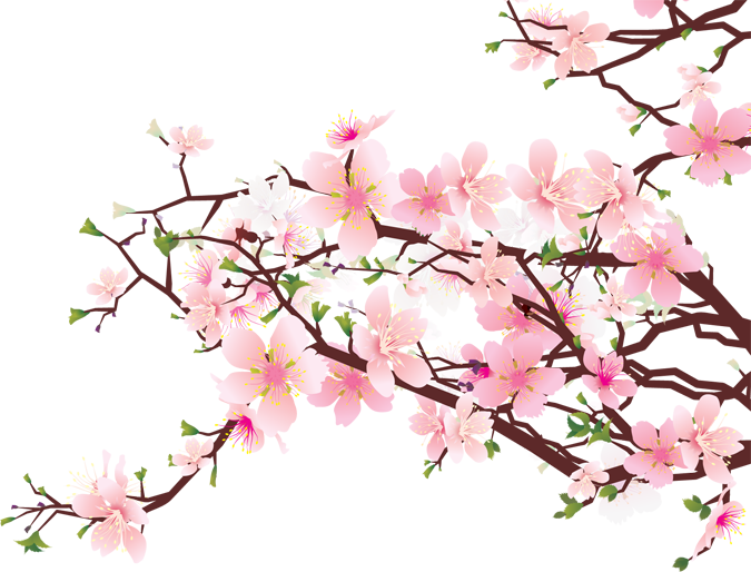 Blossoming of the cross clipart vector freeuse library 28+ Collection of Cherry Blossom Clipart Free | High quality, free ... vector freeuse library