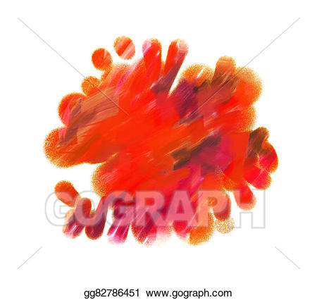 Blotch clipart clip freeuse Drawing - Red blotch. Clipart Drawing gg82786451 - GoGraph clip freeuse
