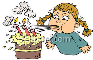 Blow out candles clipart clip art freeuse download Birthday Girl Blowing Out Candles Clip Art Royalty Free Clipart Picture clip art freeuse download