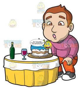 Blow out candles clipart clipart freeuse A Man Blowing Out The Candles On His Birthday Cake clipart freeuse
