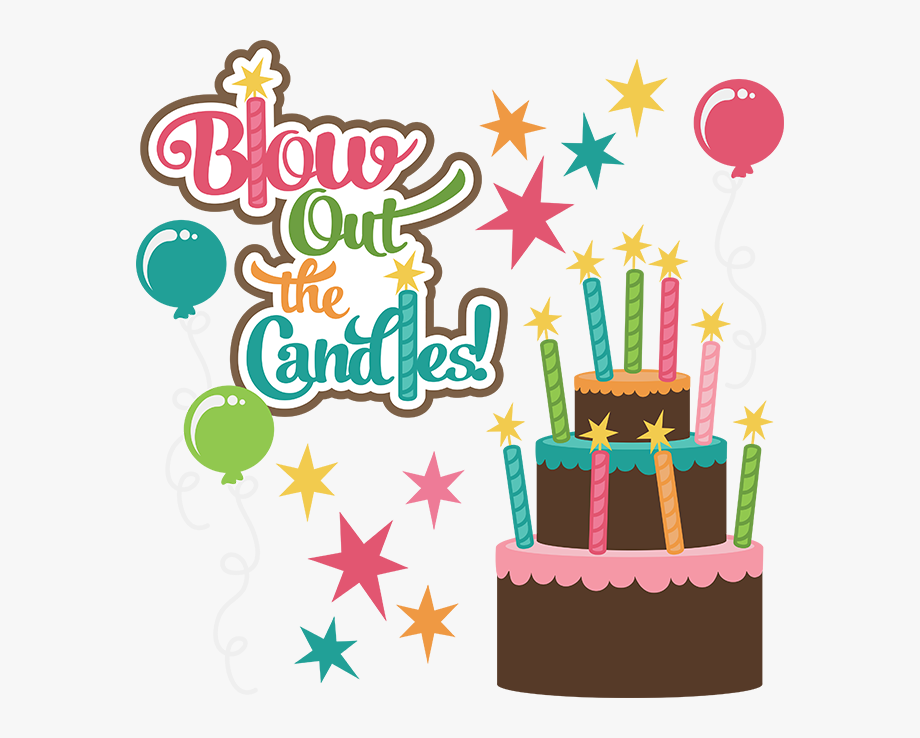 Blow out candles clipart jpg black and white stock Blow Out The Candles Svg Birthday Clipart Cute Birthday - Male Happy ... jpg black and white stock