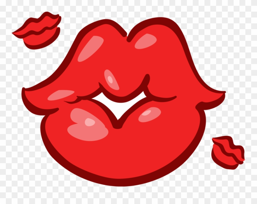 Kisses clipart royalty free download Vector Illustration Of Mouth Lips Blowing Kisses - Blowing Kisses ... royalty free download