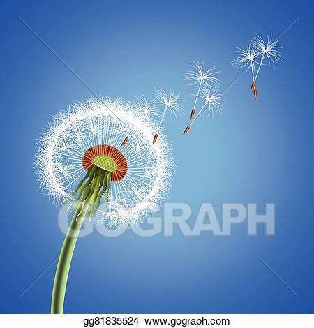 Blowing away clipart picture freeuse download Vector Stock - Dandelion seeds blowing away vector background ... picture freeuse download