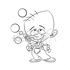 Blowing bubbles clipart black and white vector transparent library baby boy blowing bubbles black white clipart. Royalty-free clipart # 393382 vector transparent library