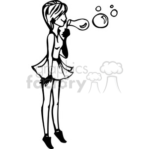 Blowing bubbles clipart black and white vector royalty free stock girl blowing bubbles clipart. Royalty-free clipart # 384743 vector royalty free stock