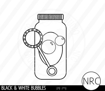 Blowing bubbles clipart black and white image black and white library Black and White Blowing Bubbles Clip Art- Commercial Use Clipart image black and white library