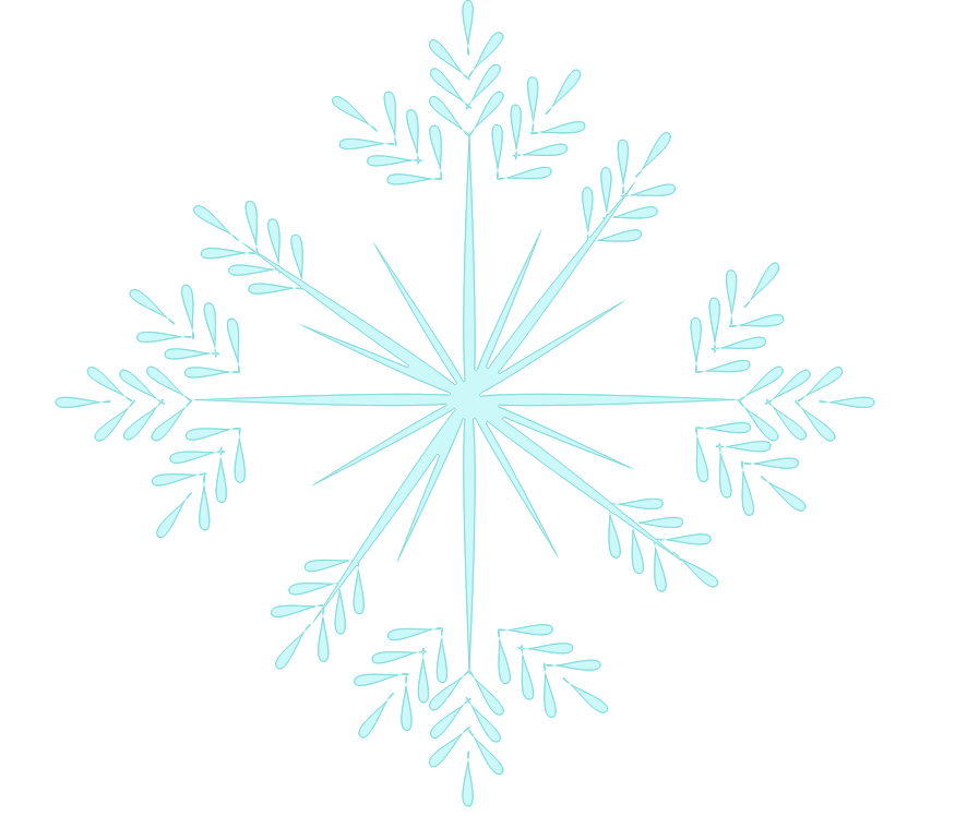 Blowing snowflake clipart image black and white stock Winter Clipart image black and white stock