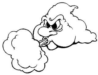 Wind blown face clipart