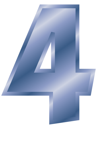 Blue 4 clipart png black and white library blue steel number 4 - /signs_symbol/alphabets_numbers/blue_steel ... png black and white library