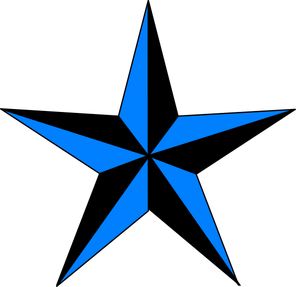 Blue & Black Texas Star Clip Art at Clker.com - vector clip art ... image transparent library