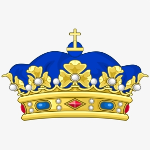 Blue and gold crown clipart clip art transparent download Dark Blue Clipart Crown - Blue And Yellow Crown - Download Clipart ... clip art transparent download