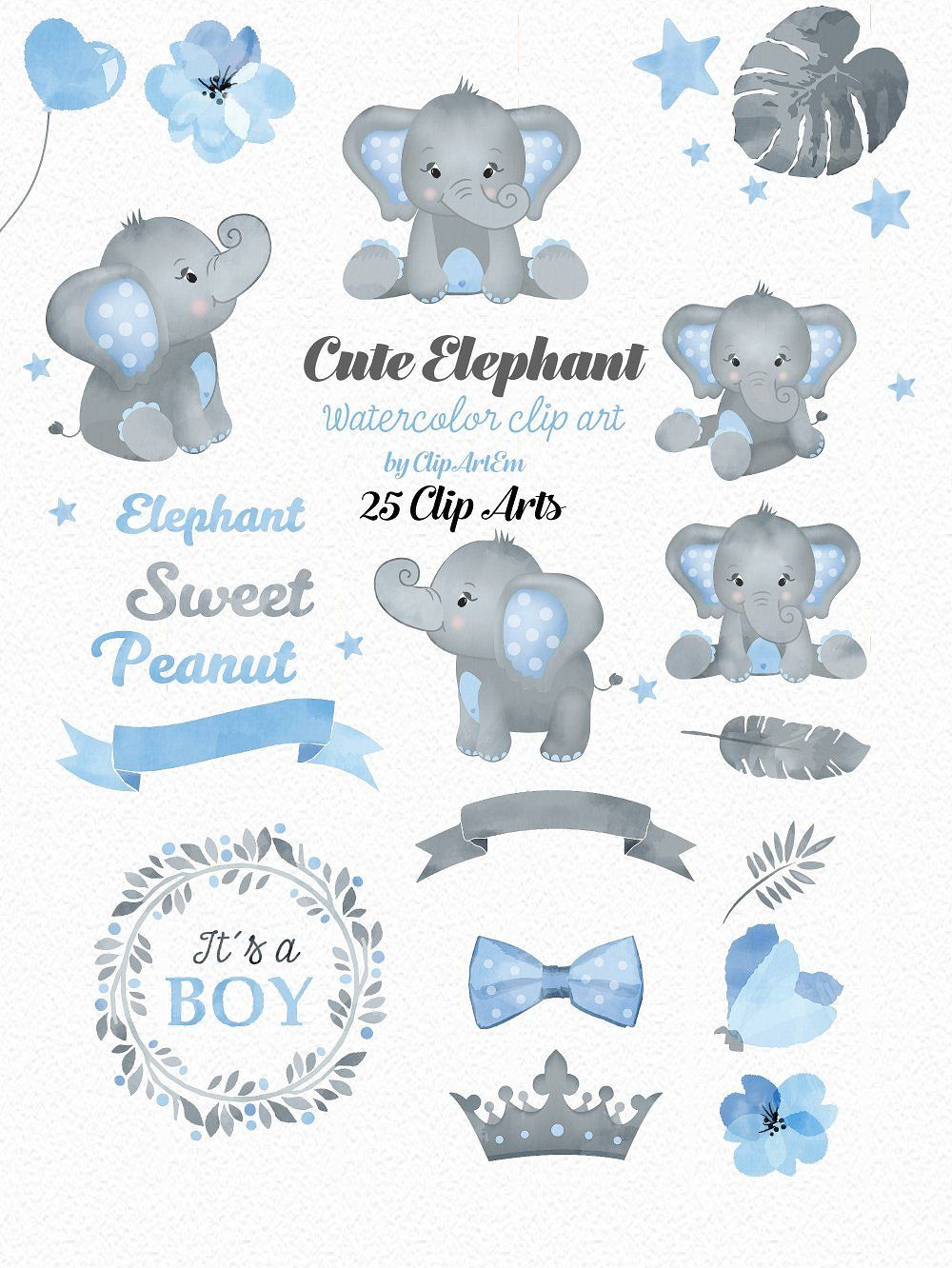Blue and gray elephant clipart vector black and white stock Boy Blue Gray Elephant Clipart #collection#Elephant#include#Images ... vector black and white stock