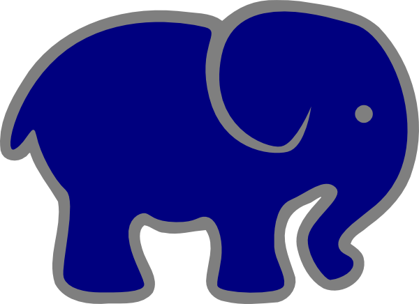 Blue and gray elephant clipart image stock Navy Blue Gray Elephant Clip Art at Clker.com - vector clip art ... image stock