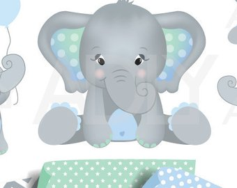 Blue and gray elephant clipart graphic free library Baby Elephant Clipart | Clipartimage.com - 270*340 - Free Clipart ... graphic free library