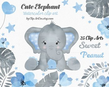 Blue and gray elephant clipart picture download Baby Blue Gray Elephant Clipart collection 1da picture download