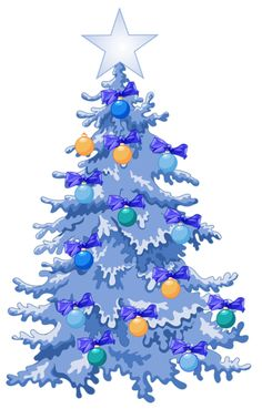 Blue and purple christmas contemporary tree clipart clip art royalty free stock 116 Best Christmas Trees images in 2019 | Christmas, Christmas ... clip art royalty free stock