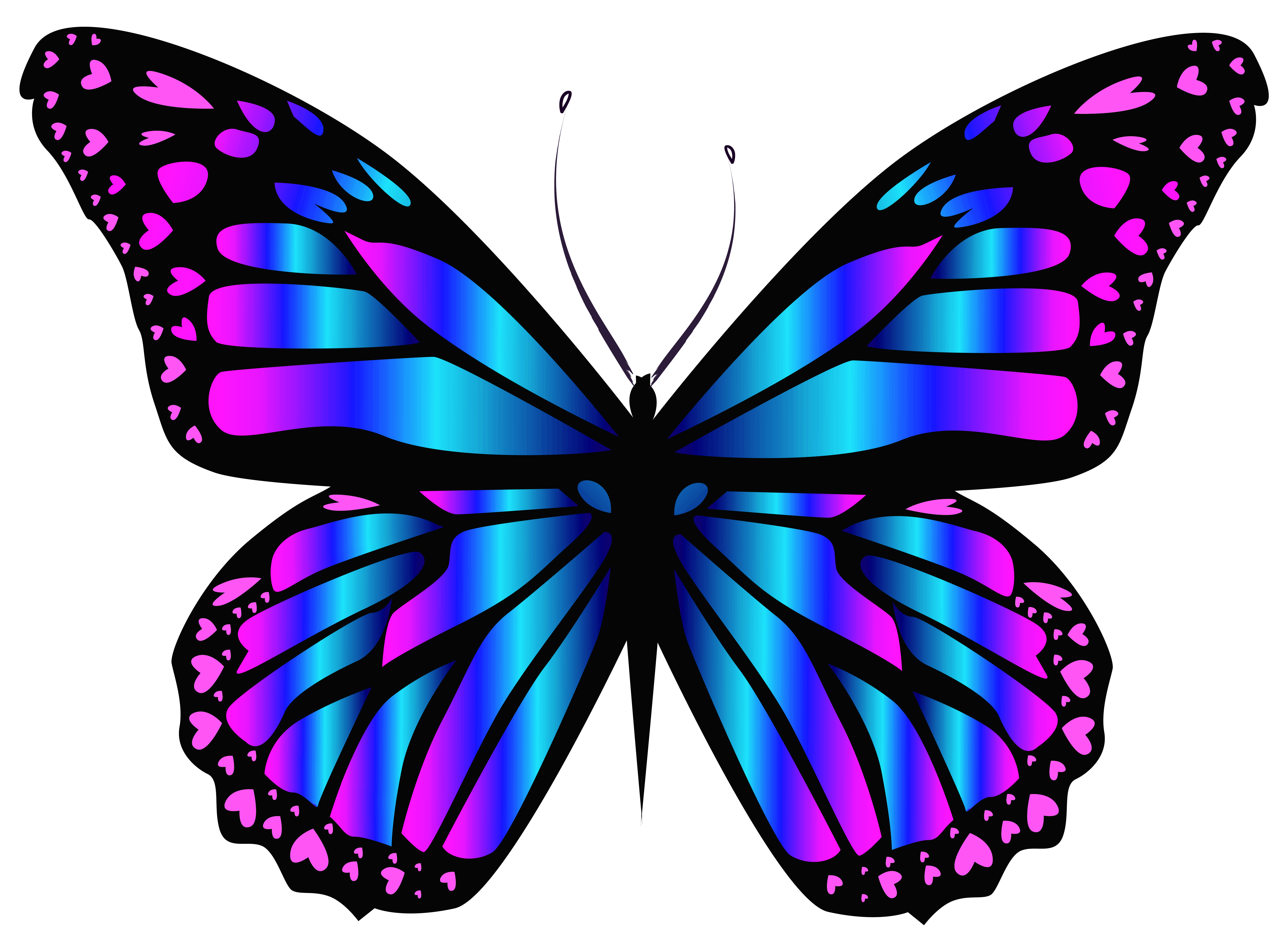 Blue and purple clipart banner royalty free download Blue and Purple Butterfly PNG Clipar Image | Gallery Yopriceville ... banner royalty free download
