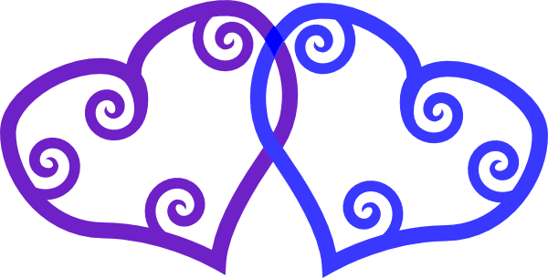 Blue and purple clipart banner free download Heart Blue Purple 2 Clip Art at Clker.com - vector clip art online ... banner free download