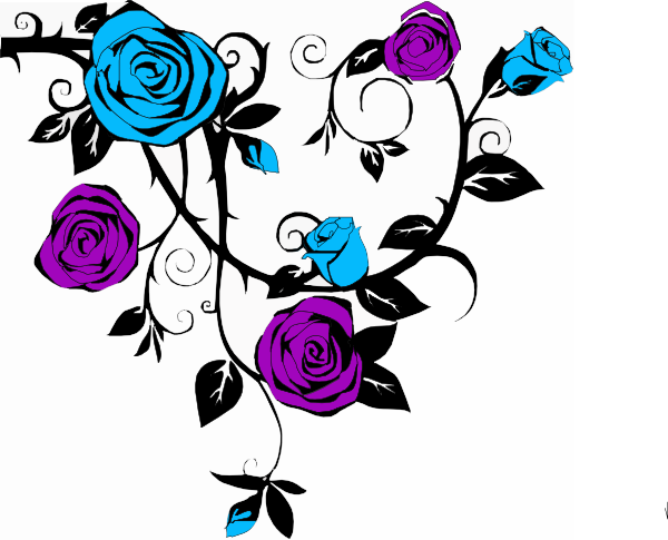 Blue and purple clipart clipart freeuse Blue And Purple Rose Clip Art At Clker.com Vector Clip - Free Clipart clipart freeuse
