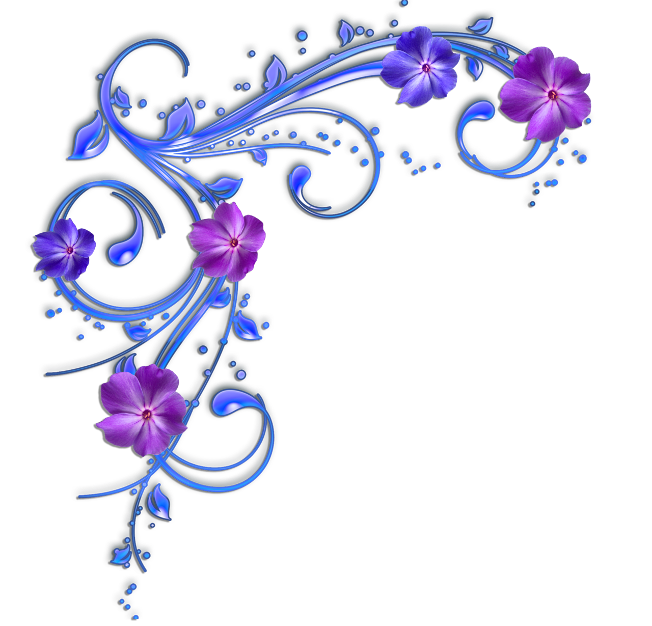Blue and purple flower clipart picture free Image - Purple-and-blue-flowers-clipart-floral--28578.png | Animal ... picture free